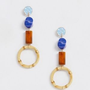 Bamboo drop earrings